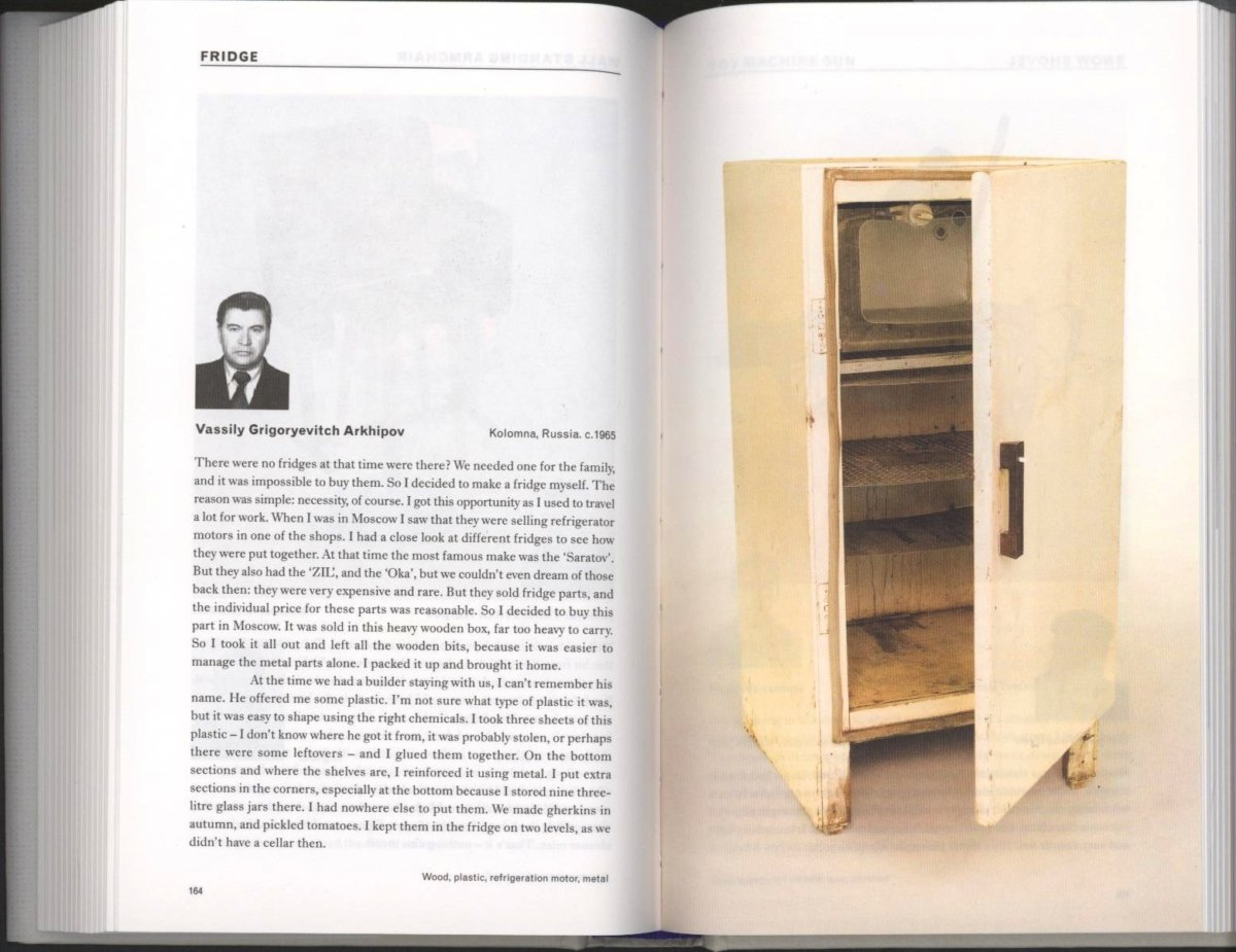 Abb. 3: Doppelseite aus: Vladimir Arkhipov: Home-Made. Contemporary Russian folk artifacts, London 2006, S. 164-165.