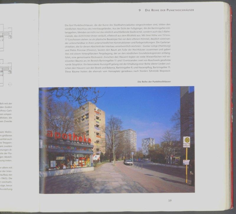 Hansa_neu 3: Die fotografischen Aufnahmen des realisierten Hansaviertels geben einen anderen Eindruck von den um 1957 errichteten Bauten wieder. Vgl. z.B.: Gabi Dolff-Bonekämper, Franziska Schmidt: Das Hansaviertel. Internationale Nachkriegsmoderne in Berlin, Berlin 1999, S. 59.